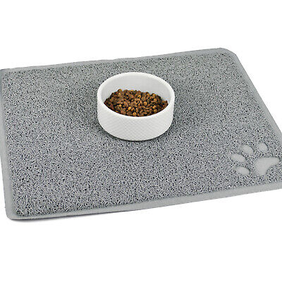 Cat Bowl Mat Large Pet Feeding Pad Food Water Dishes Non-Slip Kitten Dog Puppy