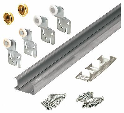Pack of 2 2 Piece Prime-Line MP6555 Bypass Steel Door Guide with Bottom Mount Nylon