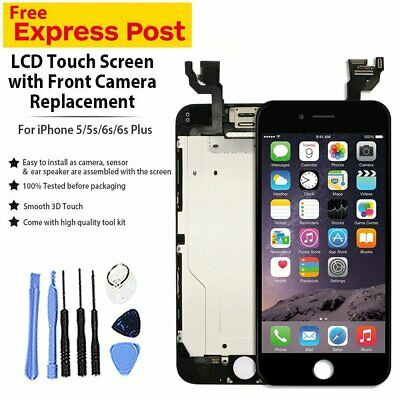 LCD Display Digitizer Touch Screen Full Assembly Replacemt For iPhone 5 5C 5S