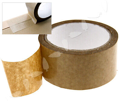 50m x 50mm Arts Crafts Picture Brown Color Self Adhesive Backing Tape