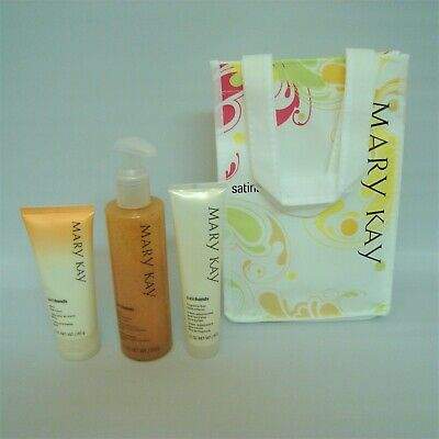 Mary Kay Peach Satin Hands FULL SIZE Pampering Gift Set