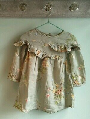 Baby Girls Pretty Floral Long Sleeve Dress Outfit By Next Size 12-18 Months