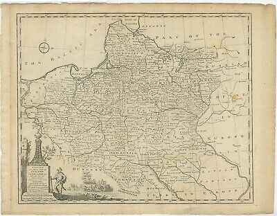 Antique Map of Poland and Lithuania (c.1744)
