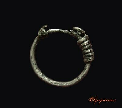 ** Excellent  **  Ancient CELTIC Silver  ring 3-4th century B.C.
