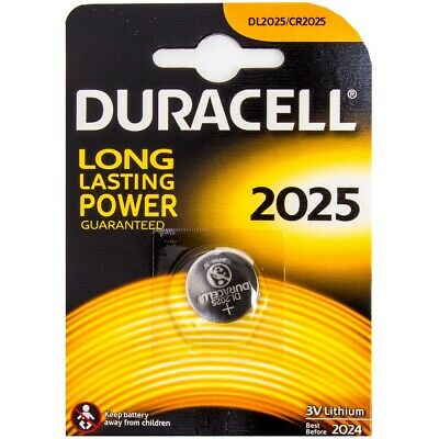DURACELL 3V Lithium Watch Batteries DL/CR 2025 Coin Cell Car Key Fob Battery UK