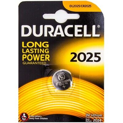 DURACELL 3V Lithium Watch Battery 2025 Coin Cell Button Small Round Batteries UK