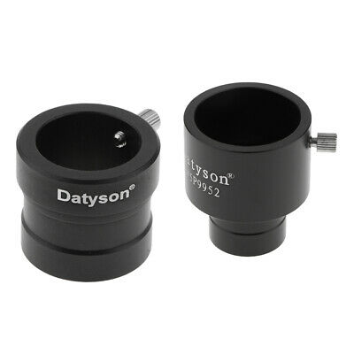 Black 0.965/1.25in Convert to 1.25/0.965in Telescope Eyepiece Adapter Ring