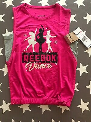New With Tags Reebok Dance Pink Sport Top Size 6
