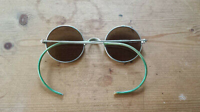 Alte Nickel Sonnenbrille  Nickel Brille Echtglas