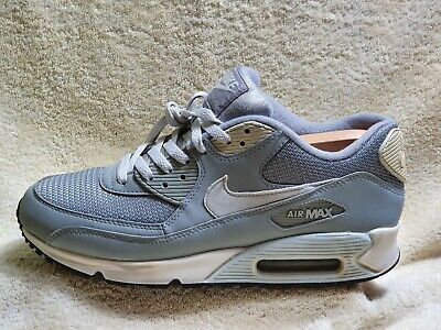Nike Air Max 90 Essential mens trainers Leather Grey/White UK 8.5 EUR 43