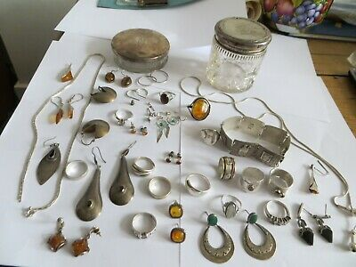 Joblot Of Sterling & 925 Jewellrey For Use Or Scrap.. 226.7 Grams