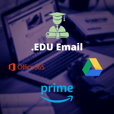 US Student Edu Email | Amazon Prime | Unlimited Google Drive Storage | And More