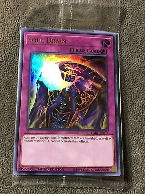 Yu-gi-oh Soul Drain Limited Edition LART-EN011 Ultra Rare Sealed Mint Condition!
