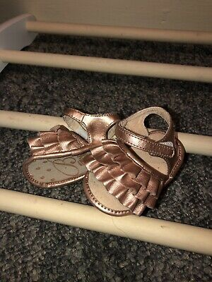 💕Baker By Ted Baker Baby Girl Pink Leather Sandles 3-6 💕