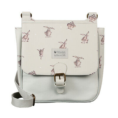 Wrendale Designs- Leaping Hare Satchel Bag Leather & Canvas Handbag- For hospice