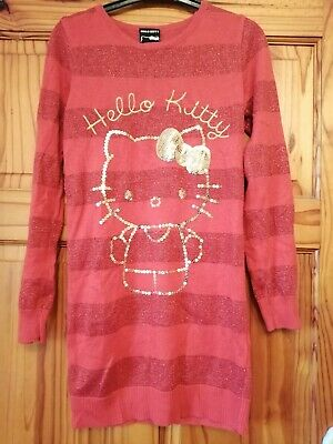 Girls Aged 9-10 Years Hello Kitty Jumper Dress From George
