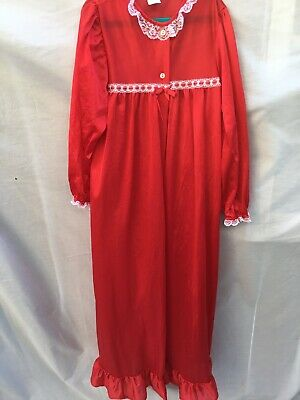 Girls J.C. Collections Long Lace and Nylon Robe (Size 12) Made in USA in A+ Cond