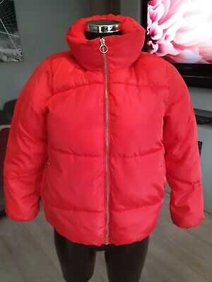 Girls Red Puffa Jacket Age 11/12 152cm From Zara