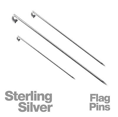 Sterling Silver Flag Pin For Jewellery Making
