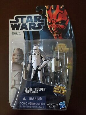 Hasbro Star Wars The Clone Wars 2012 Clone Trooper Phase 2 3.75 Action Figure
