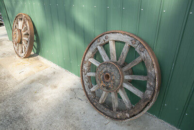 2 Old Wooden wheels