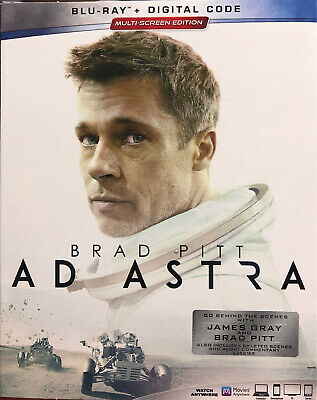 Ad Astra (Blu-ray, Digital) BRAND NEW 2019 Brad Pitt