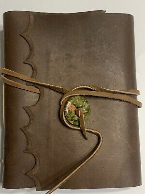 Handmade Journal Leather Bound Blank Diary Notebook Handmade In USA! Unlined New