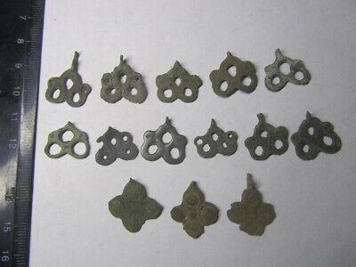 Set of pagan pendants Medieval paganism. Metal detector finds 100% original