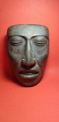 Pre-Columbian serpentine funerary mixtec mask  700AD-1200AD