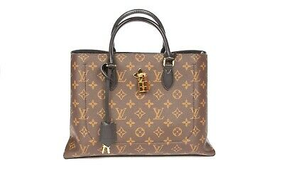 LOUIS VUITTON Monogram Flower Tote with Padlock and Key AUTHENTIC