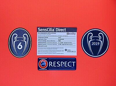 UEFA champions league 2019/20 Patch Badge 6 Times Respect For Liverpool Shirt