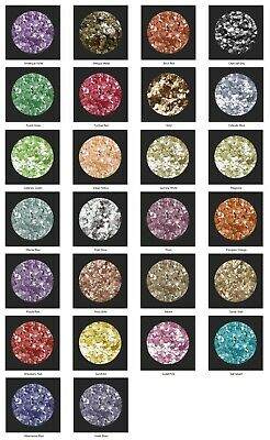 Selection of 26 colours - Chunky Glitters, Eco Glitters, ideal for art and craft