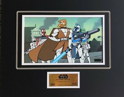 STAR WARS Clone Wars MATTED CEL 2004 General Kenobi LUCASFILM 56/1000 LAST ONE!
