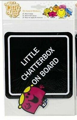 Mr Men and Little Miss On Board Car Stickers