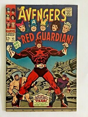 AVENGERS 43 Very Fine -   1st Appearance Red Guardian. John Buscema cover