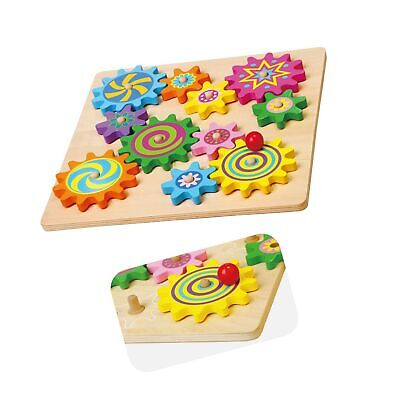VIGA WOODEN SPINNING Gears & Cogs Childrens Toddler