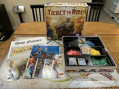 Days of Wonder Ticket To Ride Alan R. Moon Train Adventure Board Game Complete