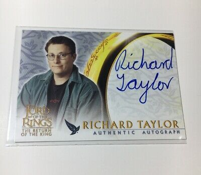 Lord Of The Rings Autograph Card Topps Richard Taylor Return Of The King
