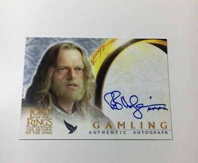 Lord Of The Rings Autograph Card Topps Gamling Return Of The King