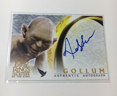 Lord Of The Rings Autograph Card Topps Gollum Return Of The King
