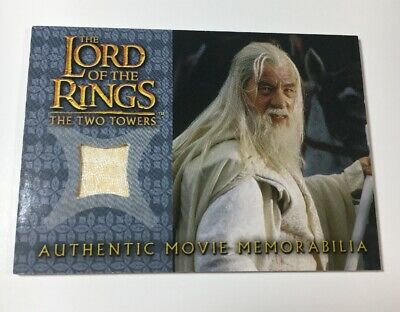Lord Of The Rings Movie Memorabilia Relic Card Gandalf's Silk Shirt