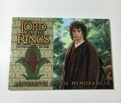 Lord Of The Rings Movie Memorabilia Relic Card 2002 Frodo's Travel Jacket FOTR