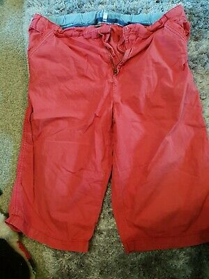 marks and spencer age 13-14 lightweight chino washed red shorts