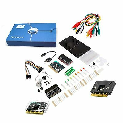 Maker-Sphere Inventors Kit for BBC Micro:bit with 10 Experiments include BBC Micro:bit with Clear and Black Case BBC Micro:bit Starter Kit