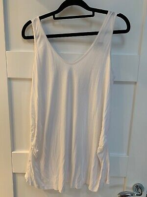 New Look Maternity White Vest Top Size 14