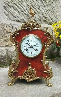 A FINE ANTIQUE TORTOISESHELL BOULLE CLOCK BY MAPLE & CO c1900 - SUPERB CONDITION