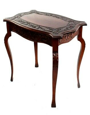 Antique Mahogany Carved Occasional Table [5827]