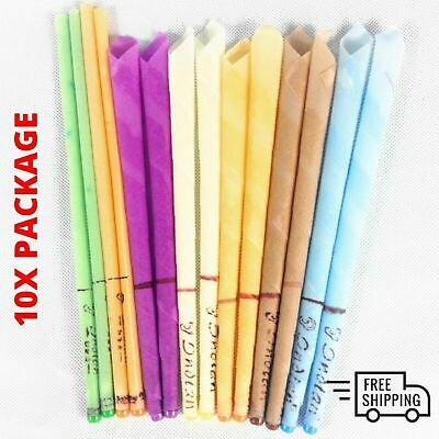 10X Hopi Ear Candling Natural Beeswax Excellent Quality Wax Candles Massage New