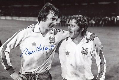 Chelsea footballer Alan Hudson signed England photo UACC DEALER