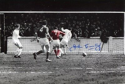Footballer John Connelly signed Manchester United v Leeds Utd photo UACC DEALER
